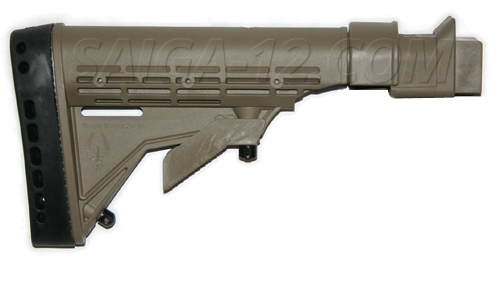 Saiga / AK KickLite Tactical Stock - Dark Earth