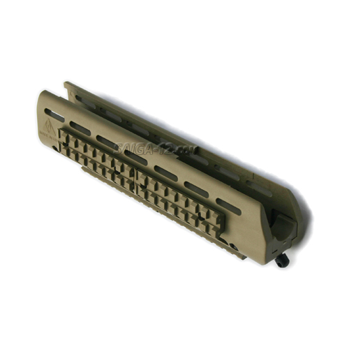 Saiga-12 & 20 Tri-rail Forearm with picatinny rail system - Dark Earth